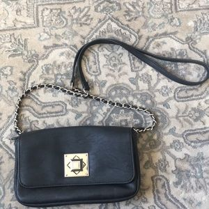 Black and silver cross body